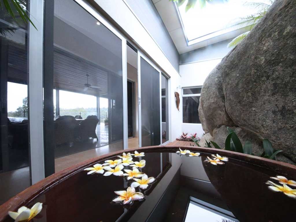 Outdoor view of a room installed with crimsafe sliding doors