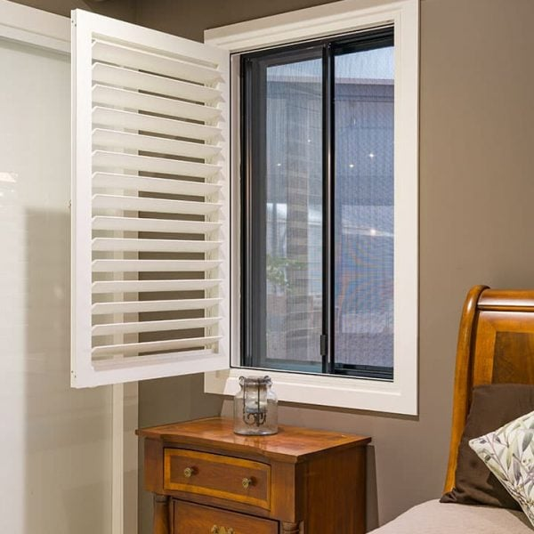 Crimsafe Window in a bedroom