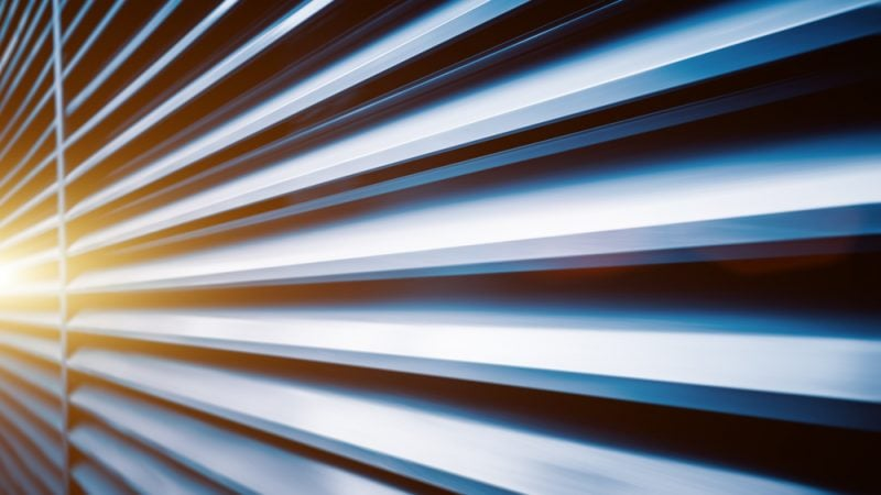 Steel shutters with light reflection