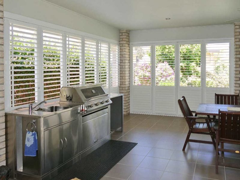 Aluminium Shutters - Patio Enclosure Shutters
