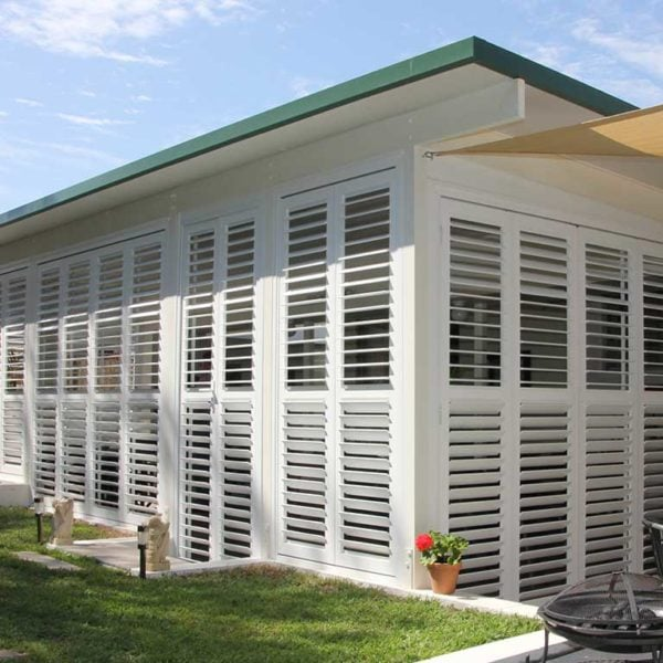 Patio Enclosure Shutters Brisbane