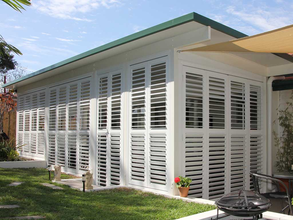 Patio Blinds In Brisbane External Shutters Guardian