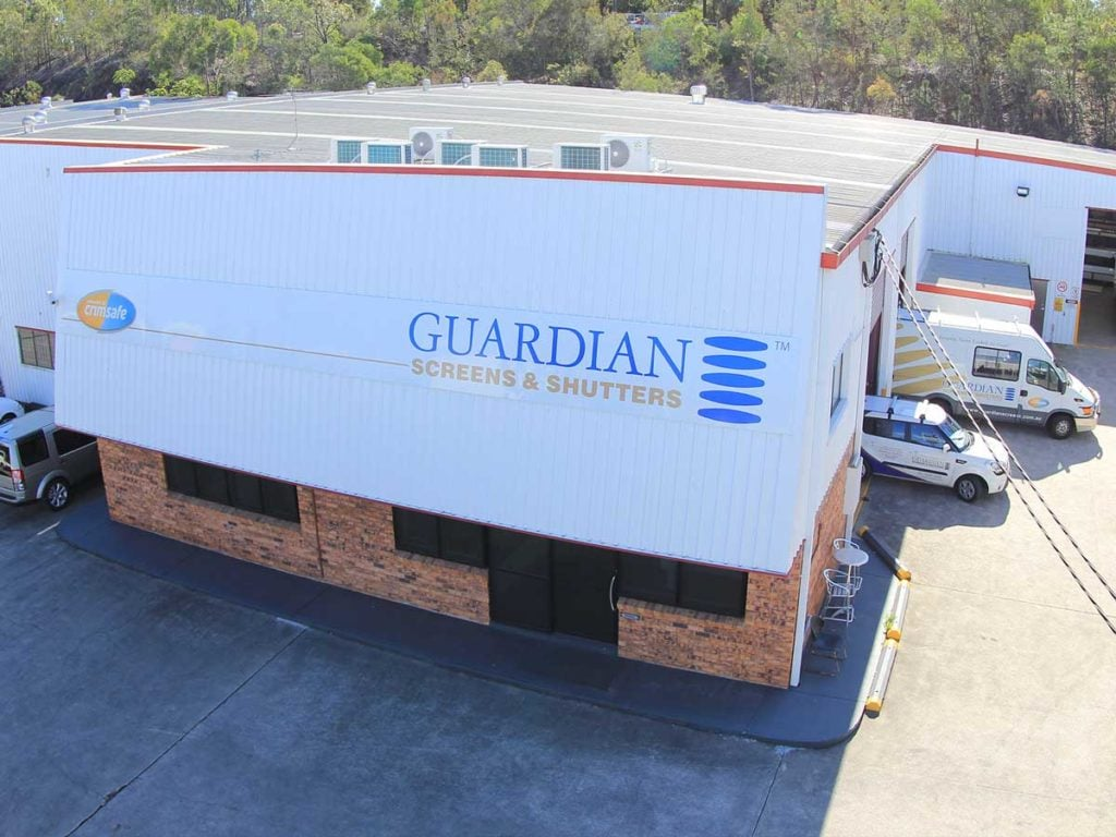 Aerial view of Guardian screens & shutters warehouse