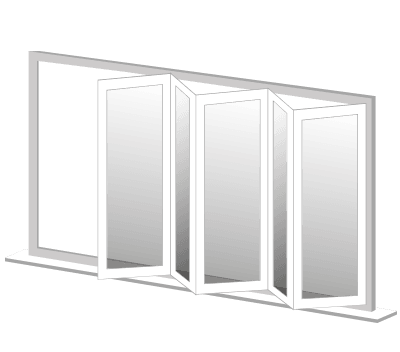 Illustration image of Crimsafe bi-fold Doors