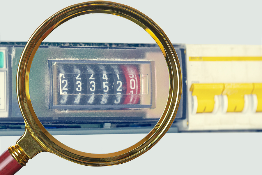 Electric meters that separated from the background