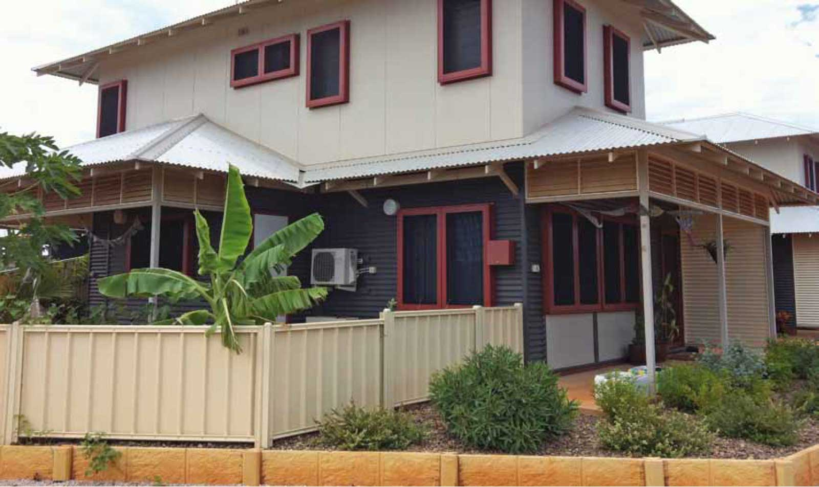 A bungalow windows protected with Crimsafe Cyclone Screens