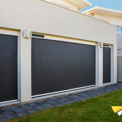House installed with Ziptrak outdoor blinds
