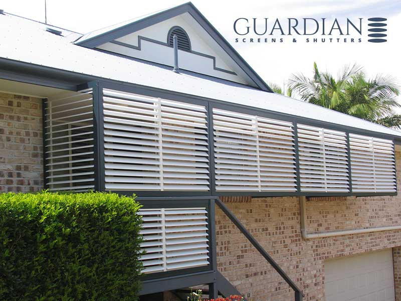 Aluminium privacy shutters