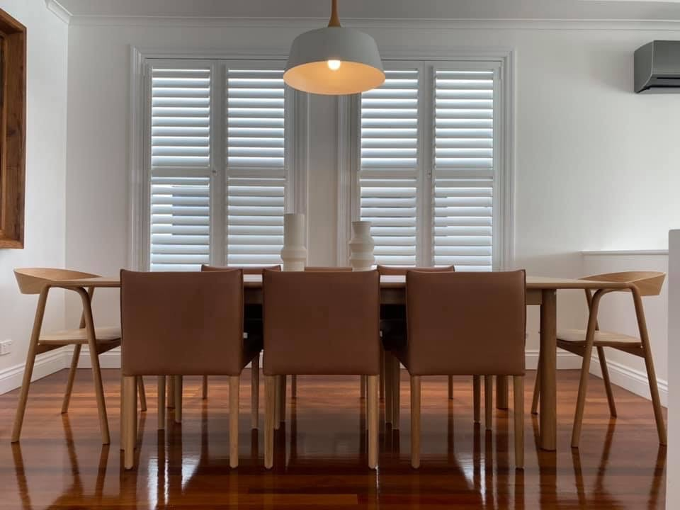 Plantation Shutters in Dining space