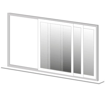 Illustration image of Crimsafe sliding stackers Doors