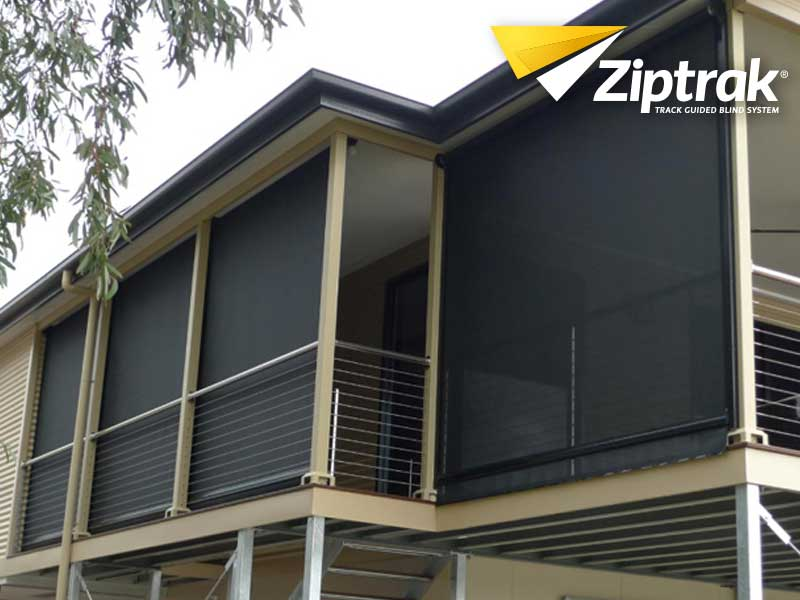 Guardian Screens & Shutters - Security Doors & Windows Brisbane. Ziptrack guided blind system.